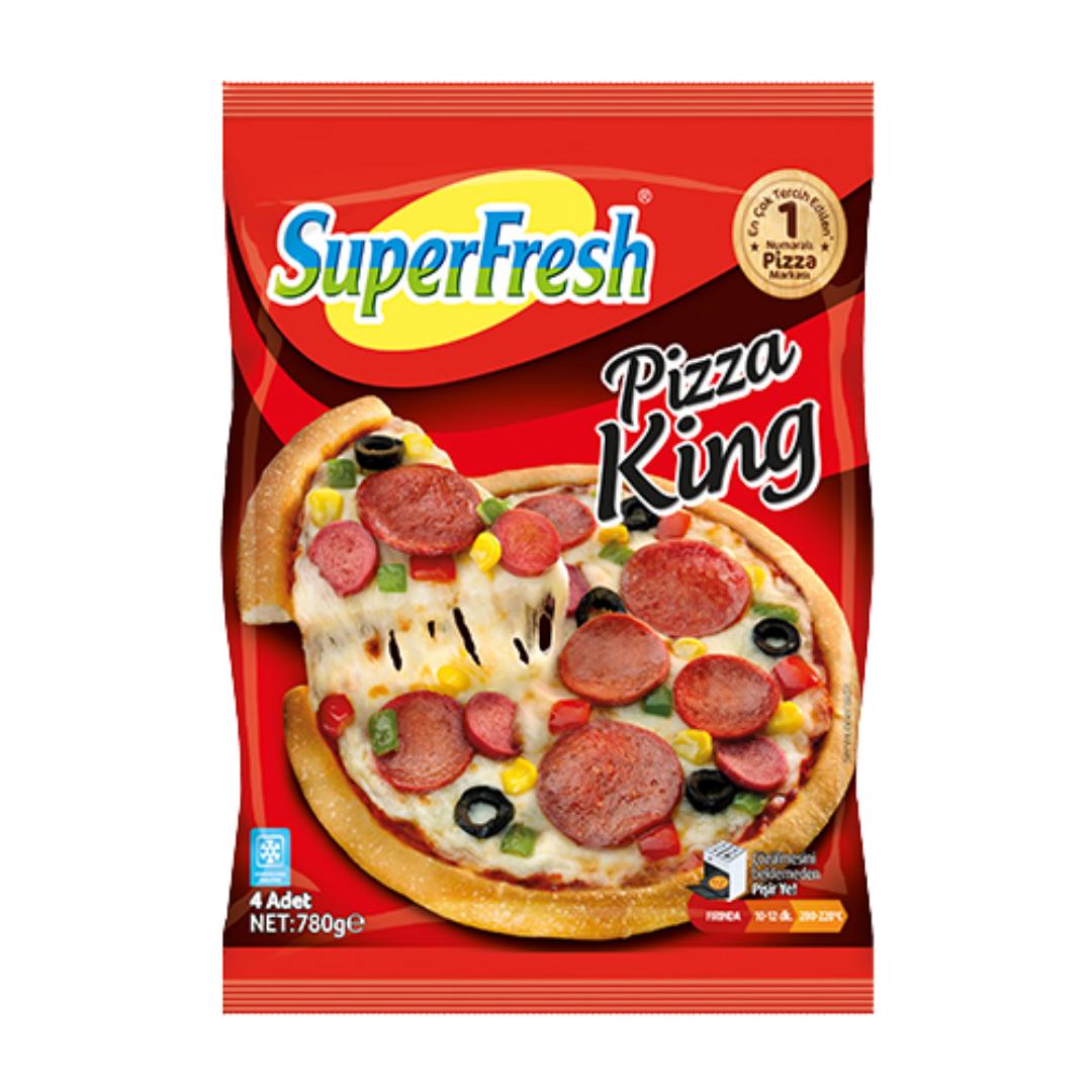 SUPER FRESH PIZZA KING 4 ADET 780GR